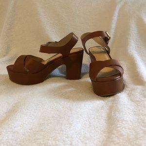 Modcloth chunky heel platform 8.5 brown